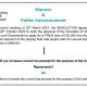 application for a loan online announcment