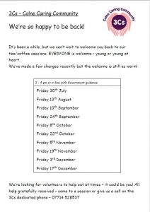 3Cs Dates for your Diary