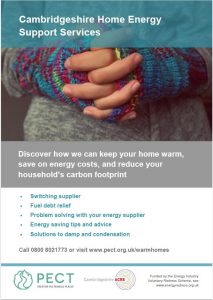 janaury 2021 cambridgeshire home energy support services